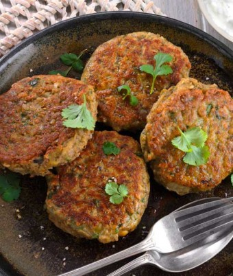 Spiced Lentil and Chickpea Patties