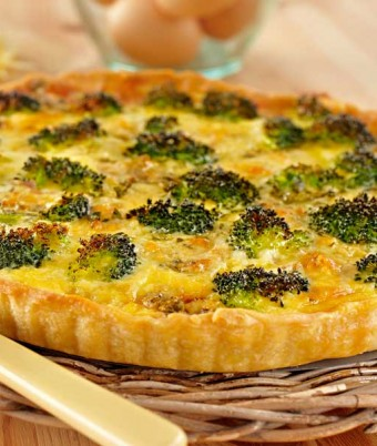 Bacon, Blue Cheese and Broccoli Tart