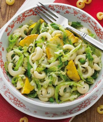 Orecchiette, Cabbage and Pea Salad