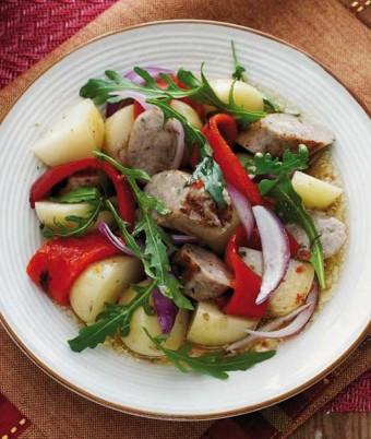 Warm Potato, Italian Sausage and Rocket Salad