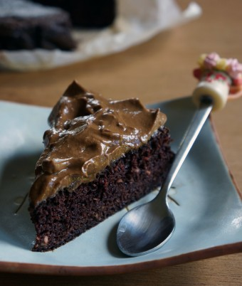 Paleo Chocolate Cake with Chocolate Mousse Icing