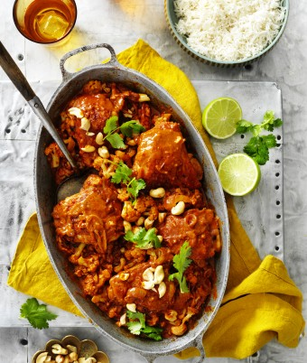 One-Pan Butter Chicken with Cauliflower