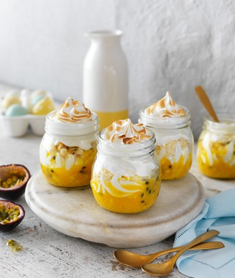 Passionfruit Curd and Meringue recipe is perfect for an Easter Dessert