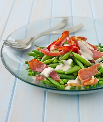 Pea, Bean and Prosciutto Salad