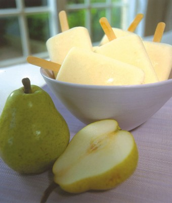 Pear and Yoghurt Ice Pops