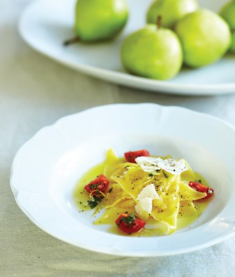 Ravioli of Josephine Pear and Mascarpone