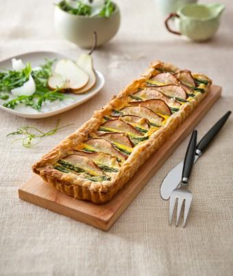 Pear and Asparagus Tart