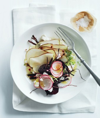 Roasted Beetroot, Radish and Pear Salad