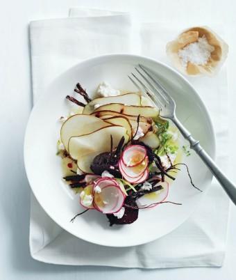 Roasted Beetroot, Radish and Pear Salad