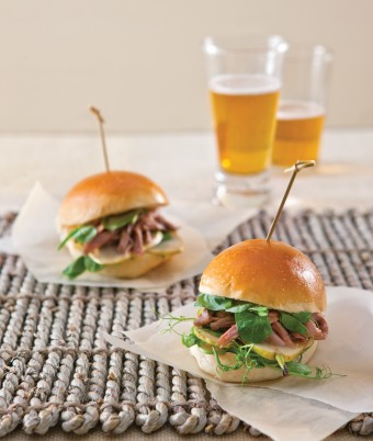 Roast Pear and Duck Sliders