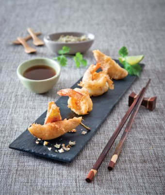Pear and Prawn Tempura