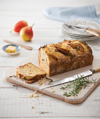 Pear and Rosemary Soda Bread