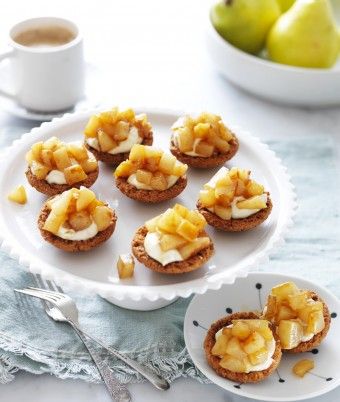 Pears and Sour Cream in Butternut Cookies recipe