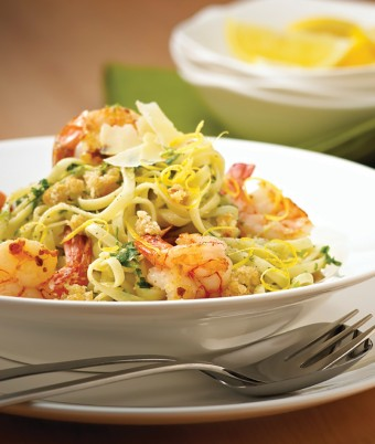 Pesto Prawn Linguine