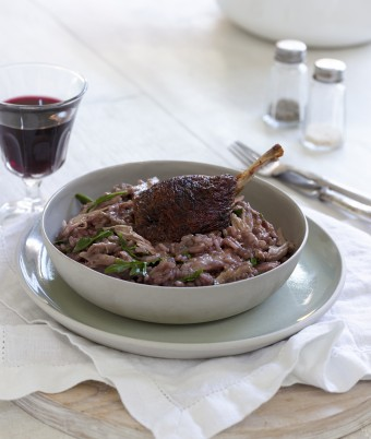 Duck and Red Wine Risotto Recipe