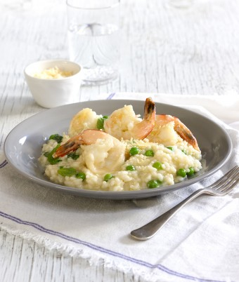 Prawn, Pea and Mint Risotto