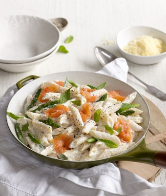 Asparagus, Smoked Salmon and Ricotta Penne