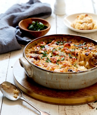 Chicken and Mushroom Baked Risotto