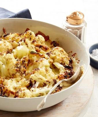 Roasted Cauliflower, Sage and Garlic Gratin