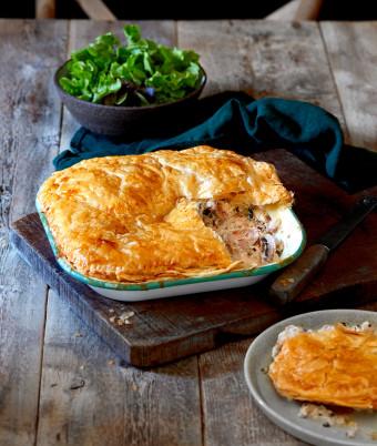Rustic Chicken, Ricotta and Herb Pie