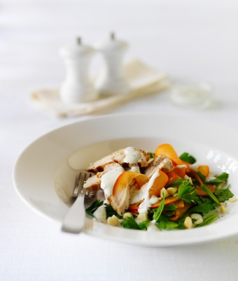 Persimmon and Fresh Herb Chicken Salad Recipe