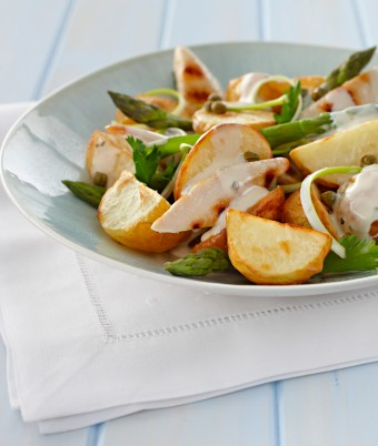 Potato Salad with Chicken and Asparagus