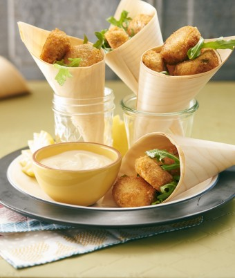 Salmon Croquettes With Lemon Aioli