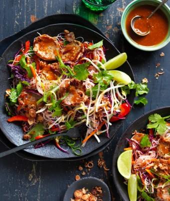 Satay Pork Vermicelli Rice Noodle Salad