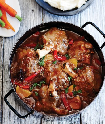 Slow cooked Lamb Shanks with Asian flavours