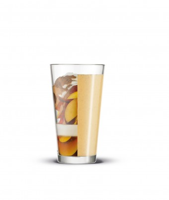 Summer Peach Shake - made easy with the Breville Boss To go blender