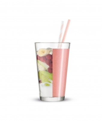 Raspberry, Pear and Vanilla Smoothie made with Breville Boss To Go