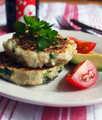 Soft Quinoa Hashbrowns