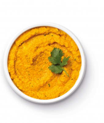 Spiced Raw Carrot and Coriander Dip - quick easy dip made with the Breville Boss Blender