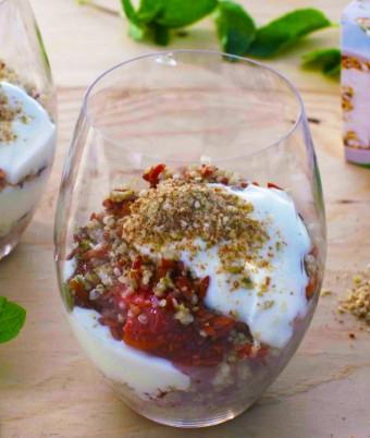 Strawberry and Chia Seed Jam Parfait Recipe