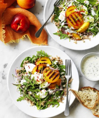 Grilled Yellow Nectarine Salad