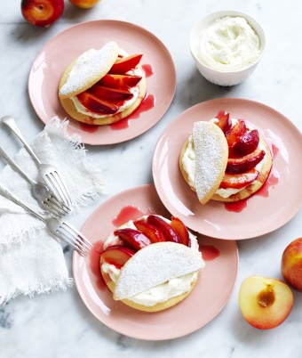 Plum Shortcakes recipe