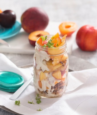 Stonefruit Breakfast Jars