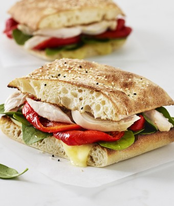 Toasted Turkish Bread with BBQ Chicken