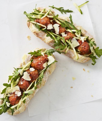 Meatballs and Parmesan Baguette