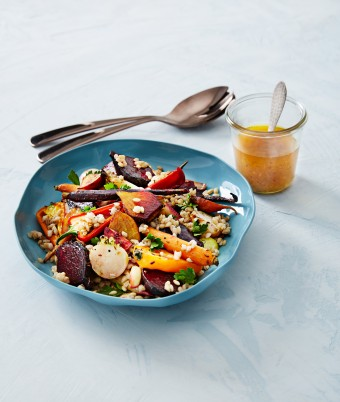 Warm Coconut Roasted Vegetables and Barley Salad