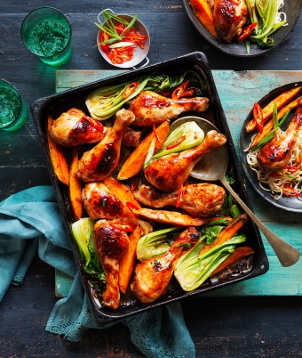 Teriyaki Chicken Drumstick Tray Bake Recipe