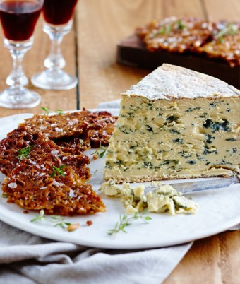 Salted Florentine Bark and Blue Cheese