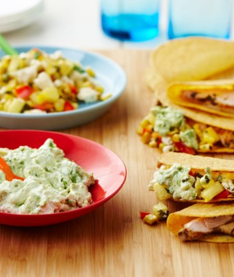 Mexican chicken taco recipe with avocado smash