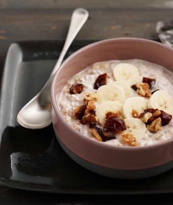 Banana, Date and Walnut Overnight Oats