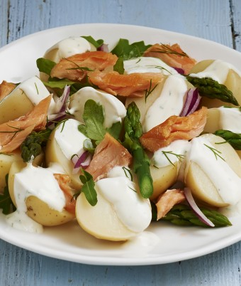 Potato and Salmon Salad with Dill Dressing