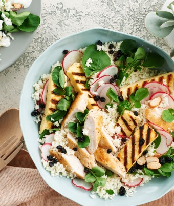 Quick and fresh summer chicken salad