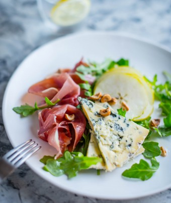 Pear, Prosciutto and Blue Salad