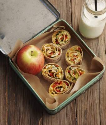 Baked Chicken and Cheese Tortilla Pinwheels
