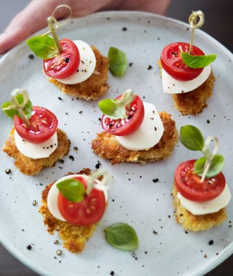Mini Summer Chicken Caprese Bites