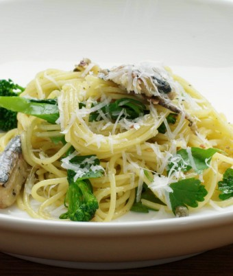 Spaghetti with Broccolini and Sardines